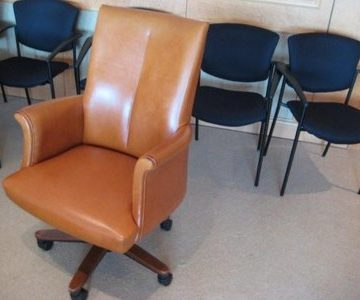 Bernhardt Camel Leather Conference Chairs