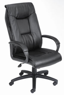 Black Executive Leather Plus High Back Chair