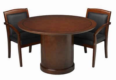 Mayline Corsica Series Round Conference Tables CubeKing - Mayline corsica conference table
