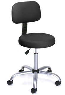 High Back Drafting Stools Chair With Back - Black