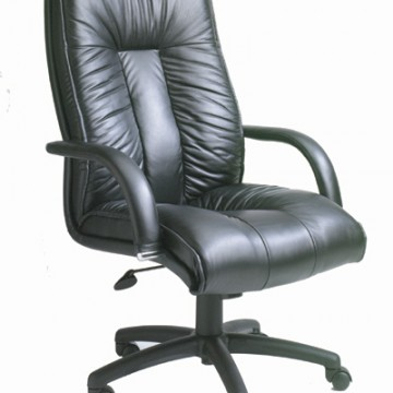 Italian Top-Grain Leather Executive High - Back Chair