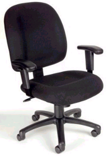 Mid-Back Ergonomic Task Chair - Black