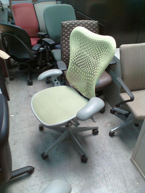 herman miller mirra citron green chair cubeking