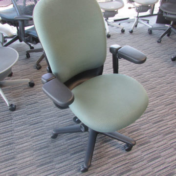 Steelcase Green High Back Fabric Task Chair