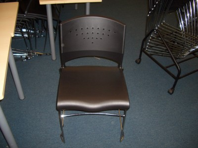 Allsteel Stack Chair (Black)