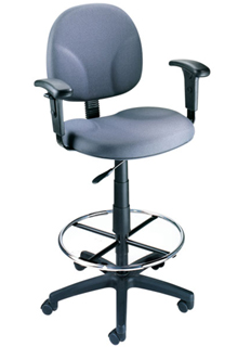 Contoured Back And Pneumatic Seat - Blue