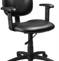 Contoured Back And Seat Arm Task Chair - Caressoft