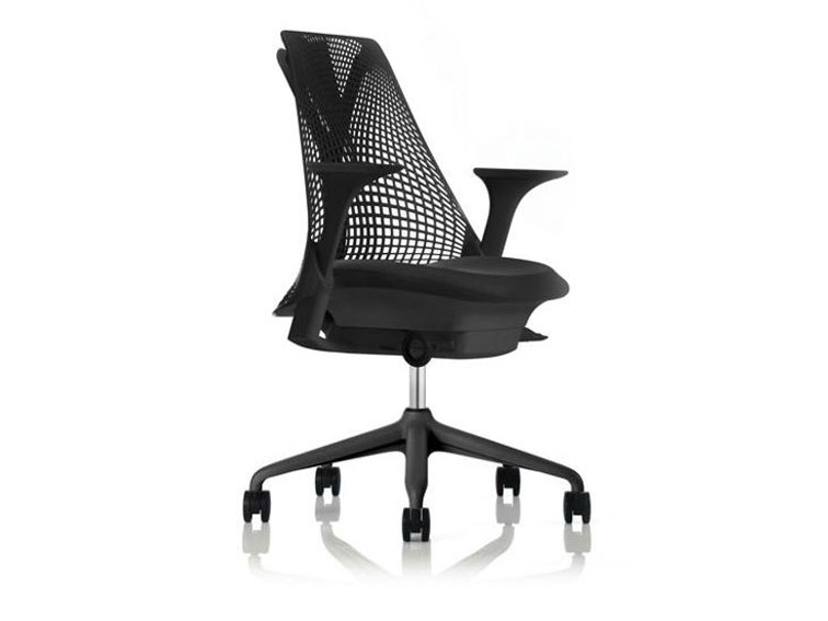 SAYL Chair by Yves Behar in black on wheels