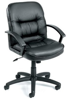 Executive Leather Chair Mid Back