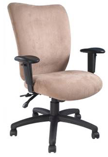 Fabric Mid-Back Chair With Lumbar Support