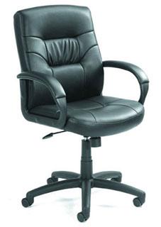 Mid Back LeatherPlus Executive Chair With Knee-Tilt Mechanism
