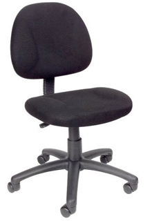 Thick Padded Seat & Back Task Chair - Black