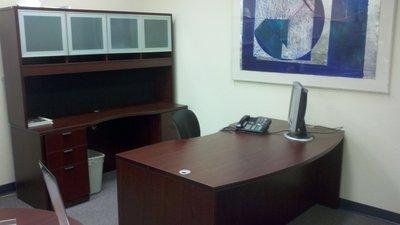 Light Bow front desk workstation