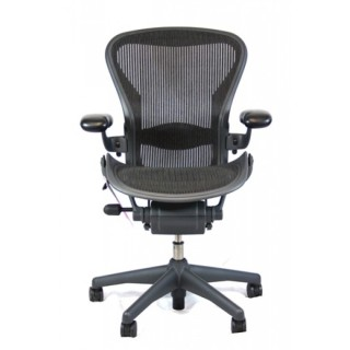 Herman Miller Office Chair, on wheels in black
