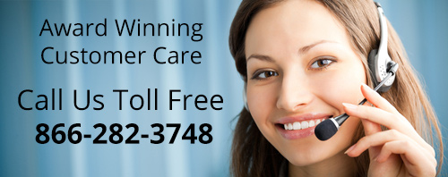 Award Winning Customer Care - Call 866-282-3748