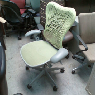Herman Miller Mirra Citron Green Chair